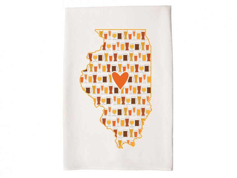 Patterned Hometown Heart Hand Towel by Coast & Cotton - 15