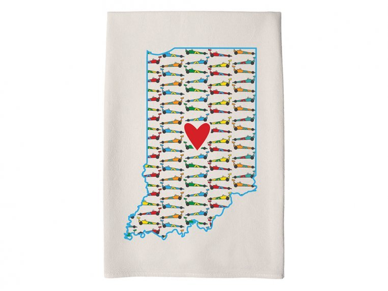 Patterned Hometown Heart Hand Towel by Coast & Cotton - 16
