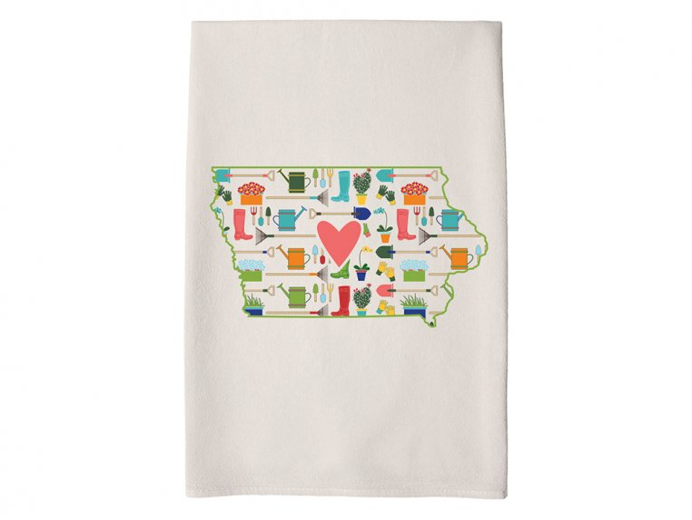 Patterned Hometown Heart Hand Towel by Coast & Cotton - 17