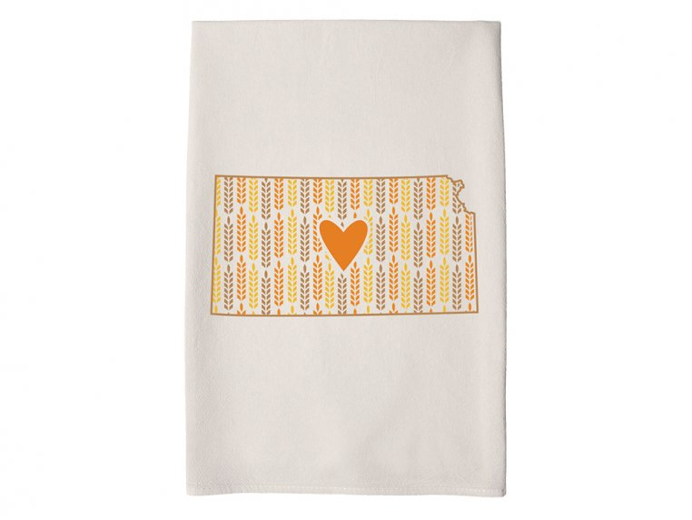 Patterned Hometown Heart Hand Towel by Coast & Cotton - 18