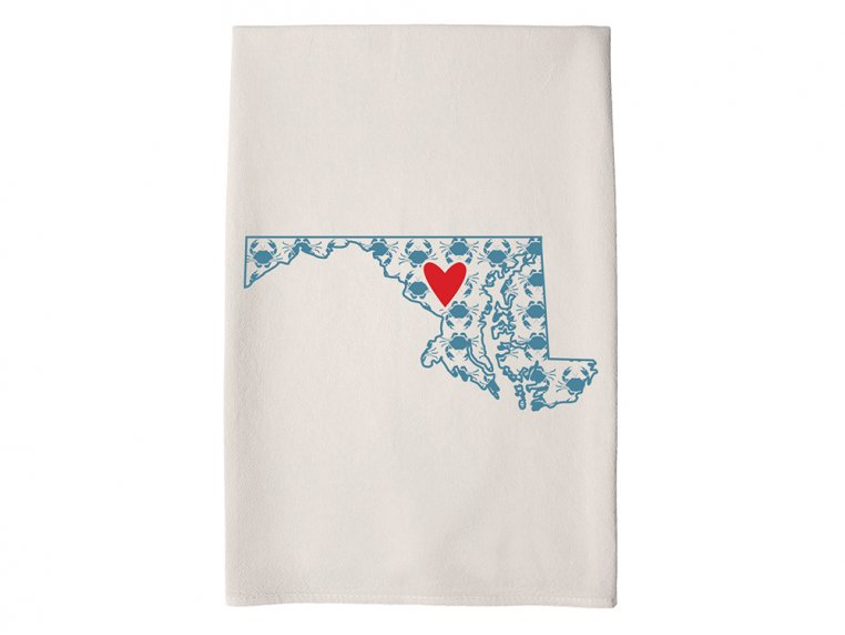Patterned Hometown Heart Hand Towel by Coast & Cotton - 20