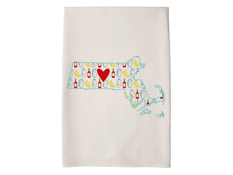 Patterned Hometown Heart Hand Towel by Coast & Cotton - 21
