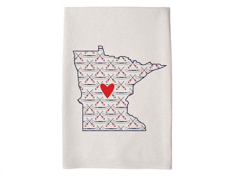 Patterned Hometown Heart Hand Towel by Coast & Cotton - 22