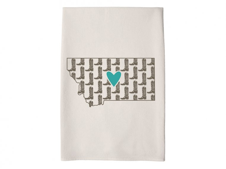 Patterned Hometown Heart Hand Towel by Coast & Cotton - 25