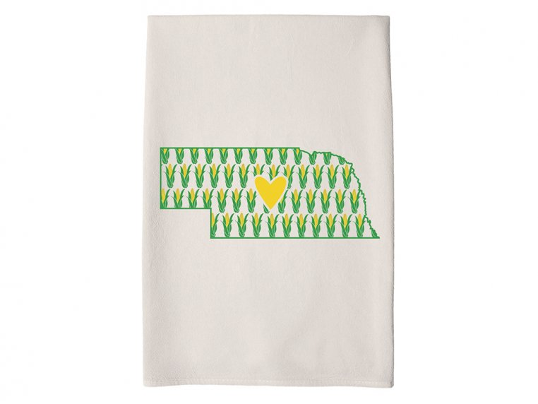 Patterned Hometown Heart Hand Towel by Coast & Cotton - 26