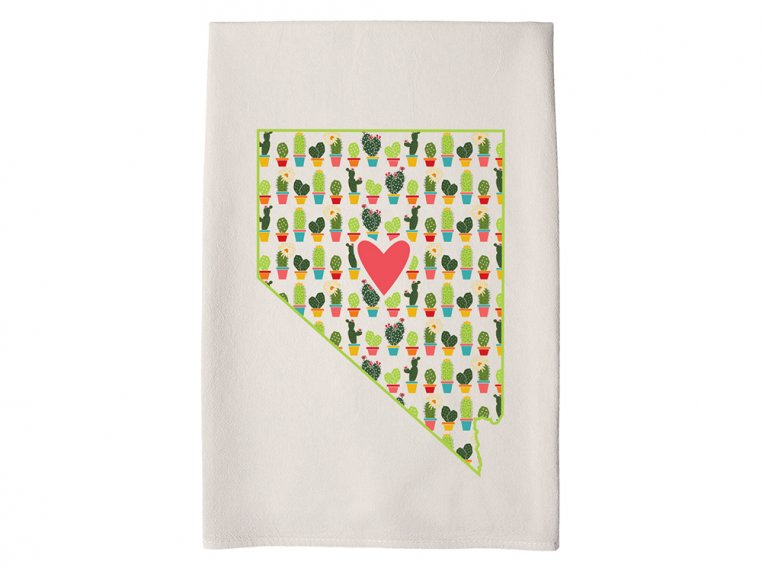 Patterned Hometown Heart Hand Towel by Coast & Cotton - 27