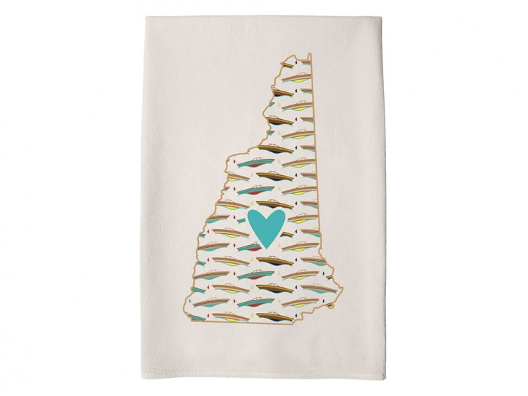 Patterned Hometown Heart Hand Towel by Coast & Cotton - 28