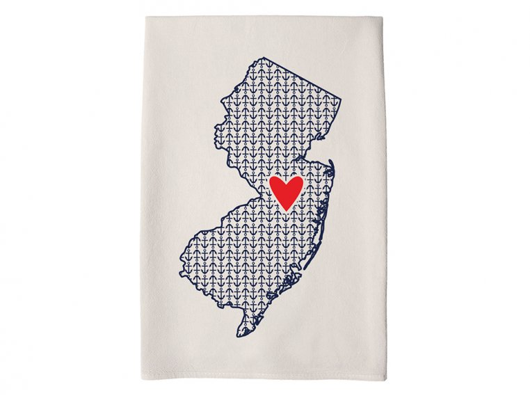 Patterned Hometown Heart Hand Towel by Coast & Cotton - 29