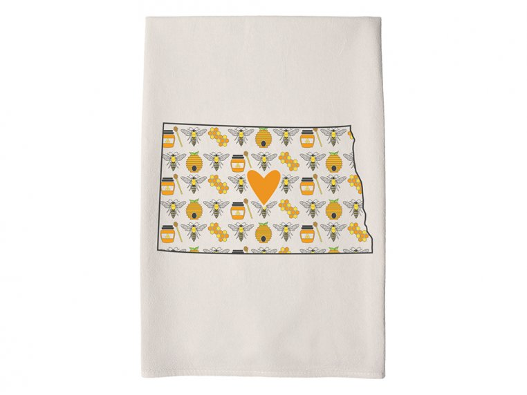 Patterned Hometown Heart Hand Towel by Coast & Cotton - 33