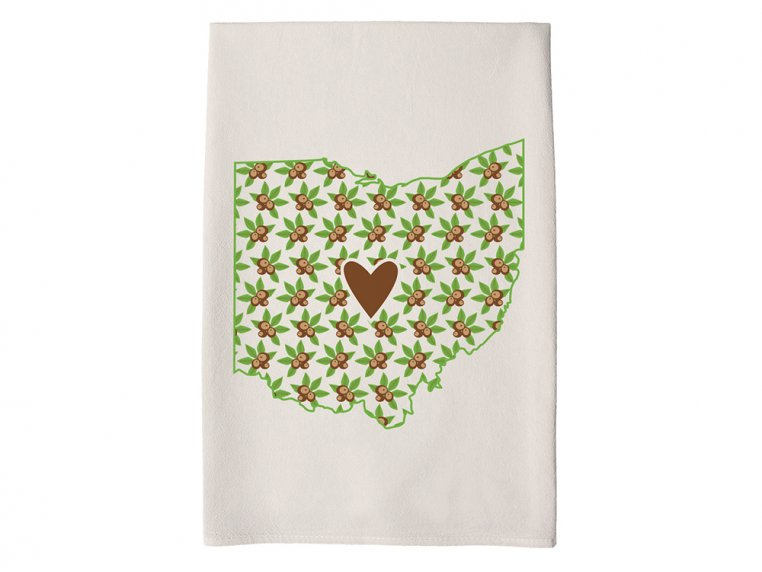 Patterned Hometown Heart Hand Towel by Coast & Cotton - 34