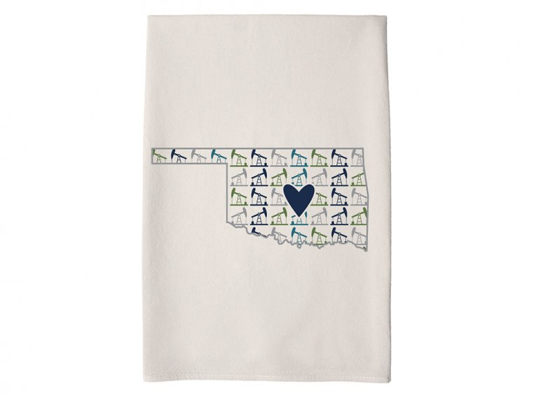 Patterned Hometown Heart Hand Towel by Coast & Cotton - 35