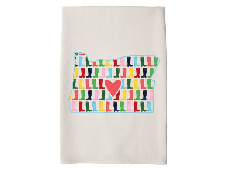 Patterned Hometown Heart Hand Towel by Coast & Cotton - 36