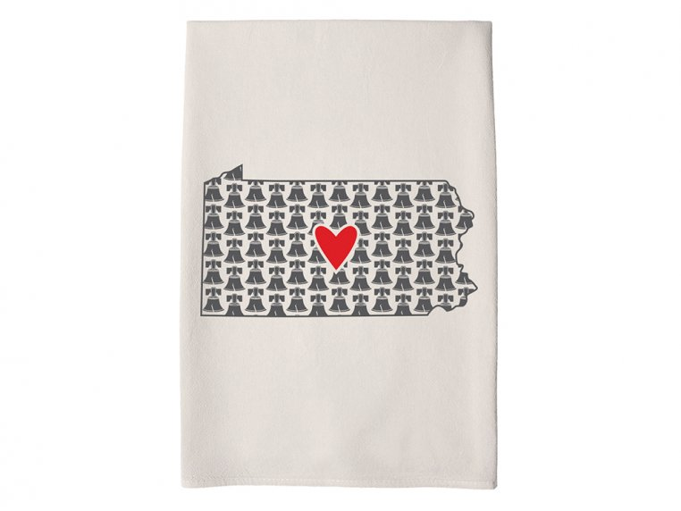 Patterned Hometown Heart Hand Towel by Coast & Cotton - 37