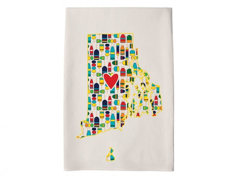 Patterned Hometown Heart Hand Towel by Coast & Cotton - 38