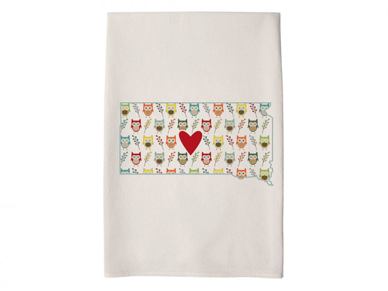 Patterned Hometown Heart Hand Towel by Coast & Cotton - 40