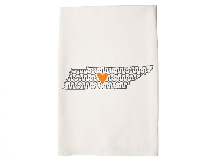 Patterned Hometown Heart Hand Towel by Coast & Cotton - 41