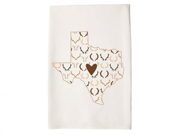 Patterned Hometown Heart Hand Towel by Coast & Cotton - 42