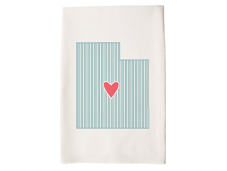 Patterned Hometown Heart Hand Towel by Coast & Cotton - 43