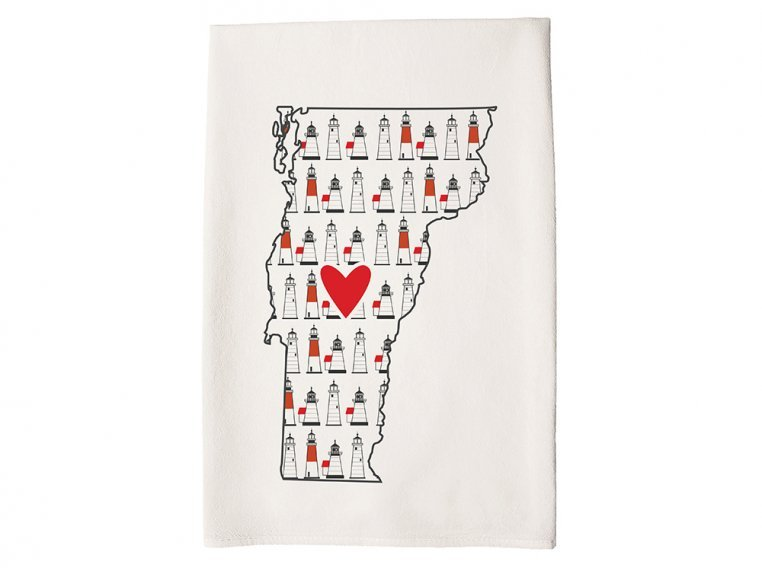 Patterned Hometown Heart Hand Towel by Coast & Cotton - 44