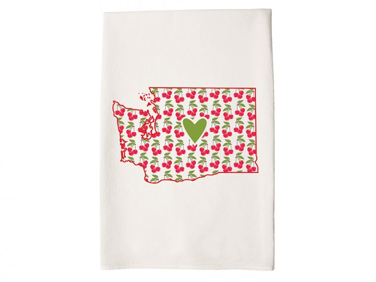 Patterned Hometown Heart Hand Towel by Coast & Cotton - 46