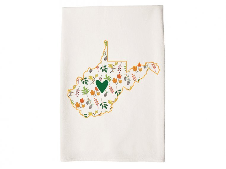 Patterned Hometown Heart Hand Towel by Coast & Cotton - 47
