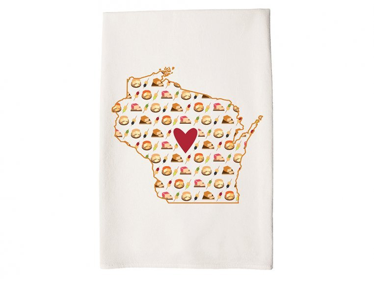 Patterned Hometown Heart Hand Towel by Coast & Cotton - 48