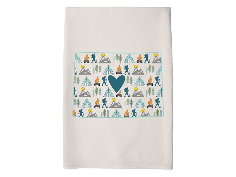 Patterned Hometown Heart Hand Towel by Coast & Cotton - 49