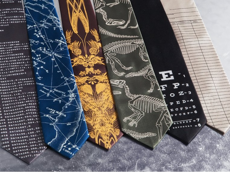 Hand-Printed Neckties by Cyberoptix - 1
