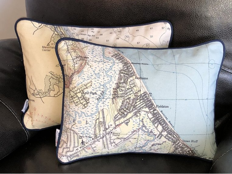 Custom Nautical Pillow by Not for Navigation - 4