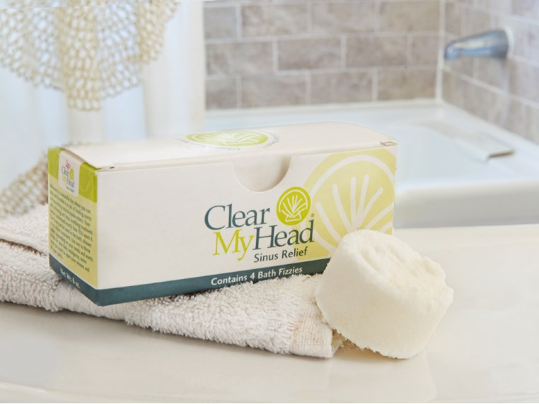 Sinus Relief Bath & Shower Fizzies by Clear My Head - 1