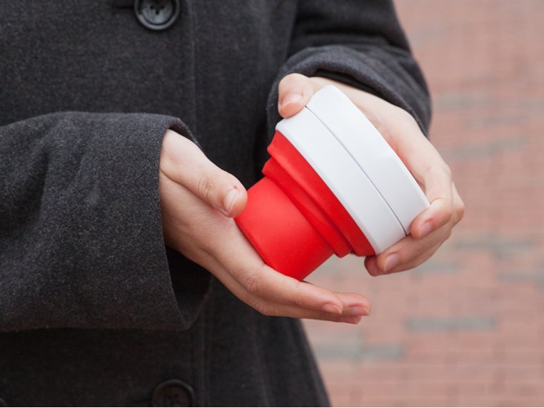 Collapsible Travel Cup by Stojo - 4