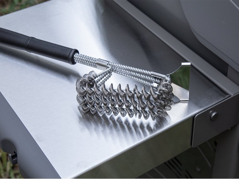 Stainless Steel Bristleless Grill Brush by BBQ Butler - 3
