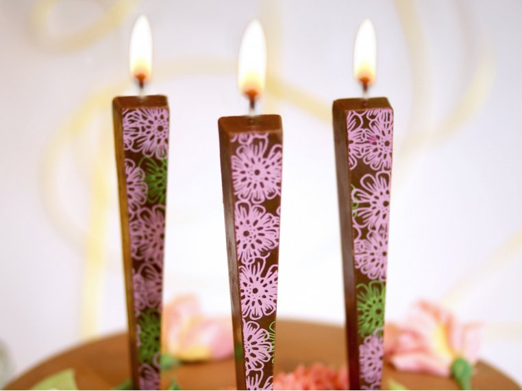 Edible Chocolate Candles - 3-pack by Let Them Eat Candles - 4