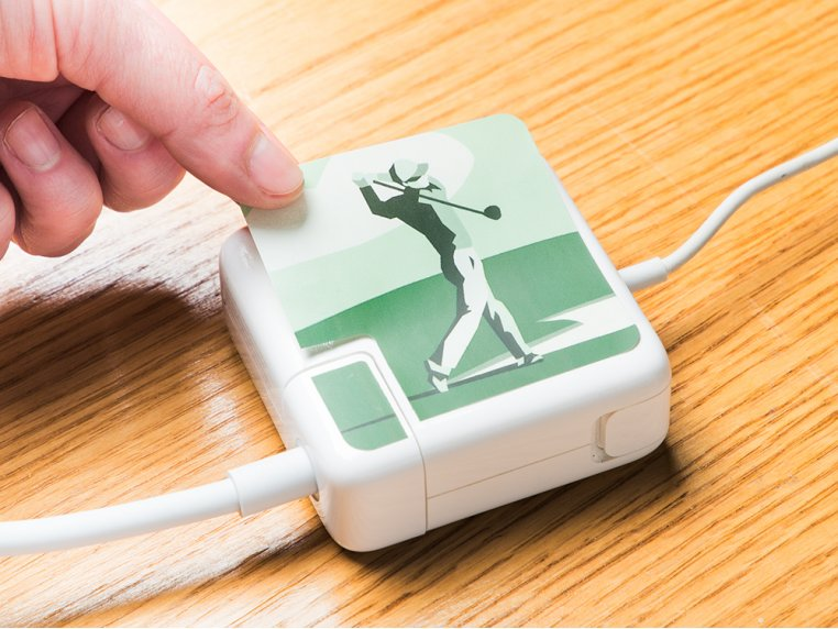 MacBook & iPhone Charger Stickers by Meo - 3