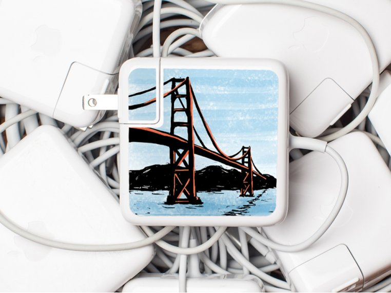 MacBook & iPhone Charger Stickers by Meo - 6
