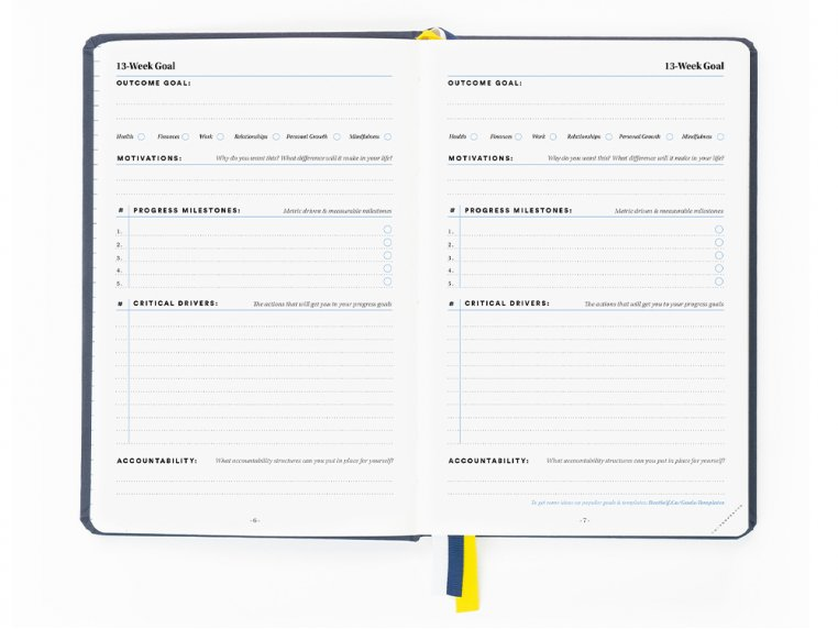 13-Week Self Care Productivity Planner by BestSelf Co. - 2