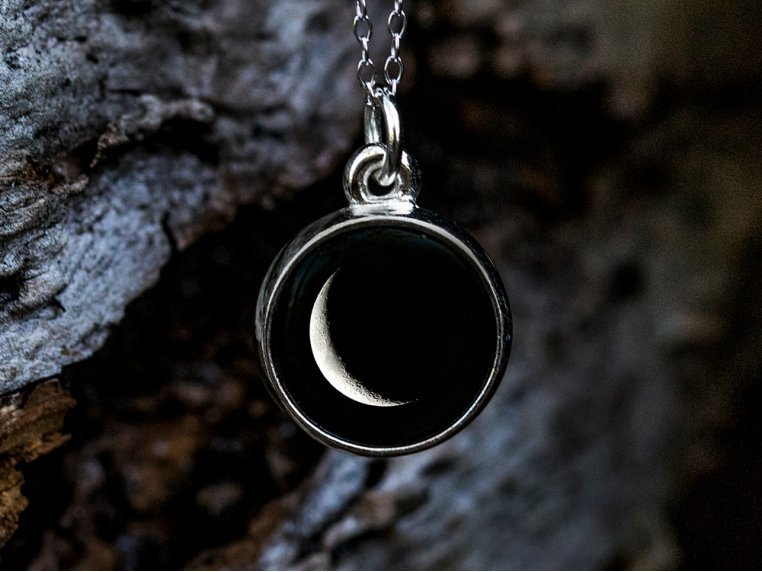 Choose Your Moon Phase Necklace - Simple Design by Moonglow - 2