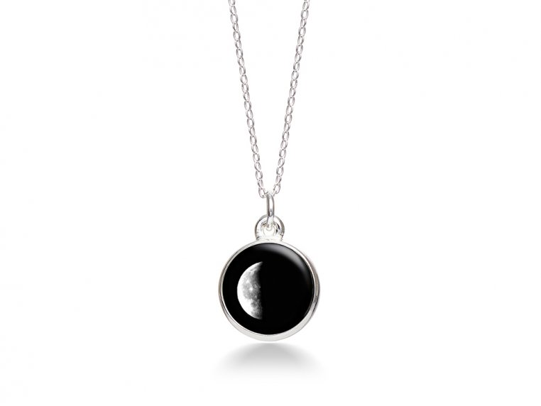 Choose Your Moon Phase Necklace - Simple Design by Moonglow - 16