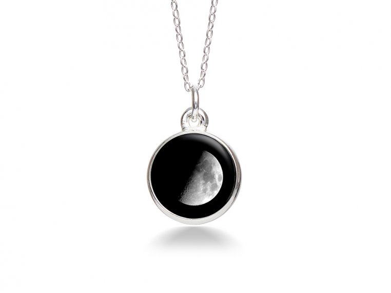 Custom Date Moon Phase Necklace - Simple Design by Moonglow - 3