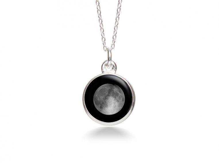 Custom Date Moon Phase Necklace - Simple Design by Moonglow - 4