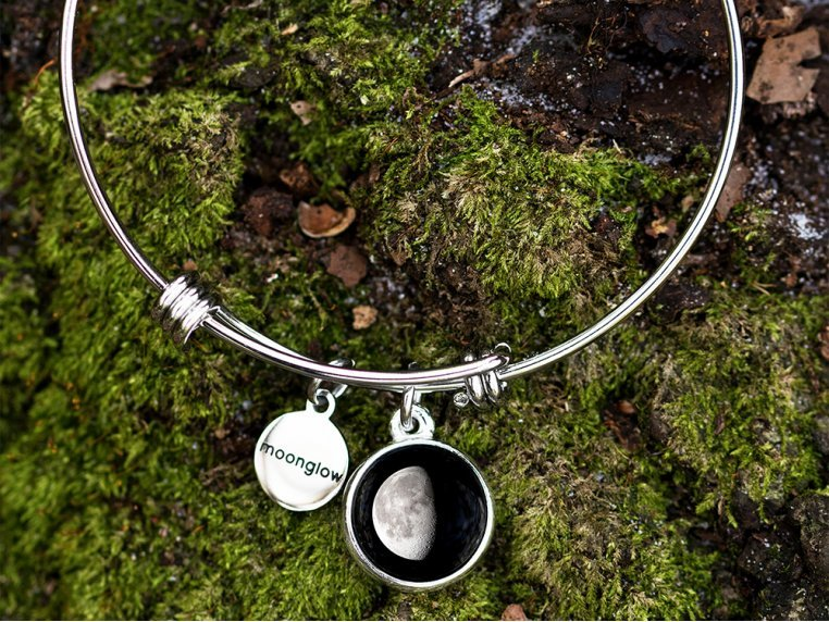 Custom Date Moon Phase Bangle by Moonglow - 2