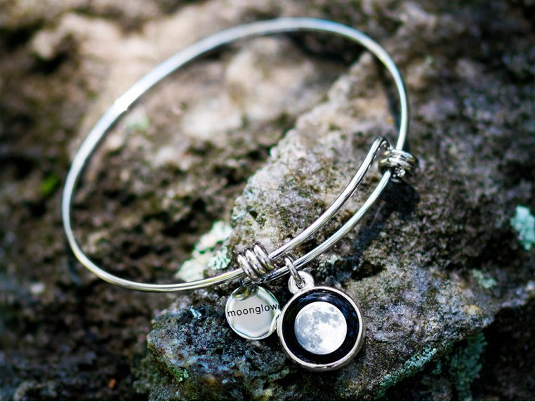 Custom Date Moon Phase Bangle by Moonglow - 1