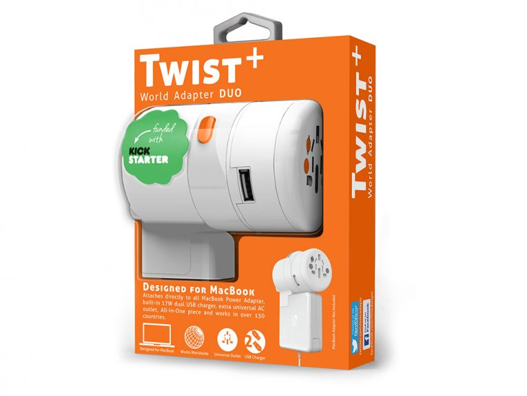TWIST Plus World Adapter DUO by OneAdaptr - 2