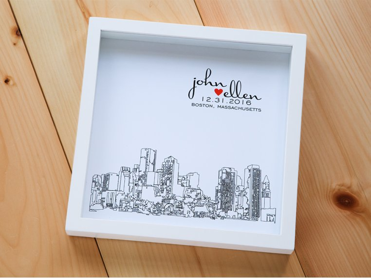 Personalized Skyline Shadow Box by Define Design 11 - 1