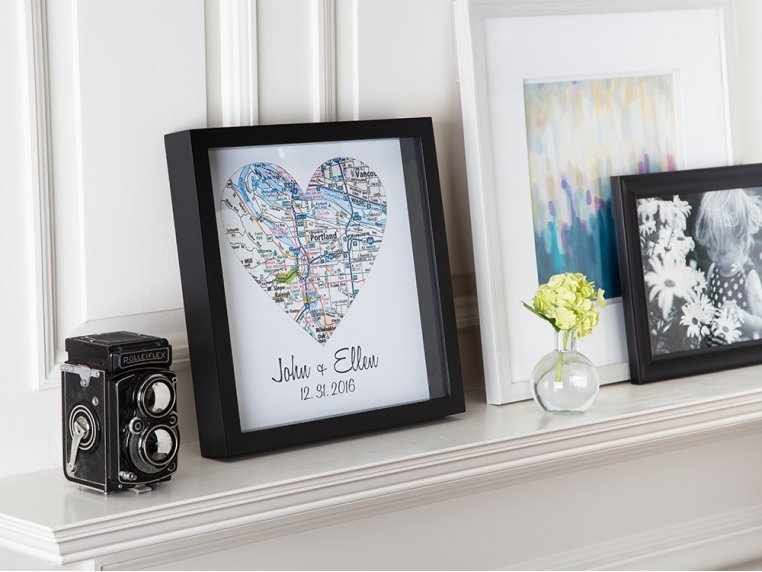Personalized Map Heart Shadow Box by Define Design 11 - 4