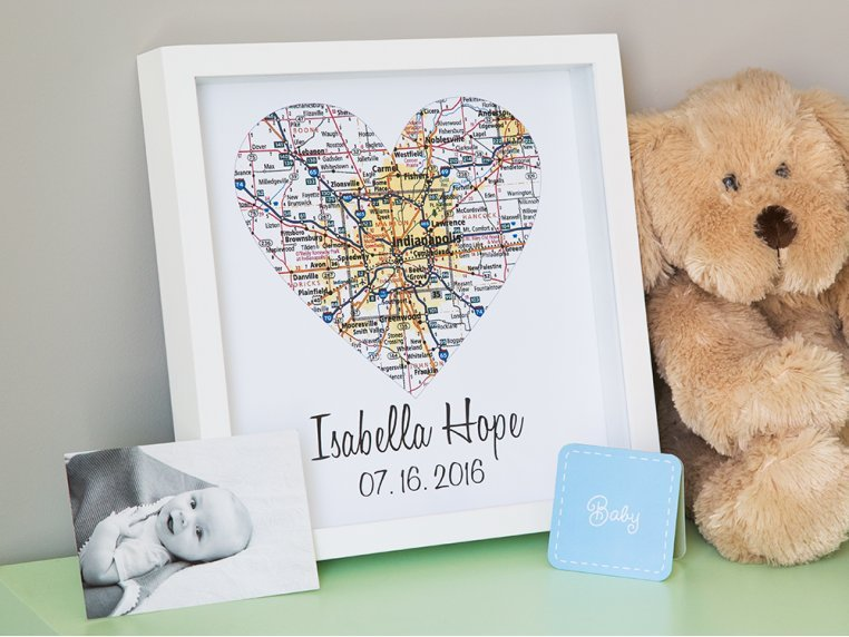 Personalized Map Heart Shadow Box by Define Design 11 - 2