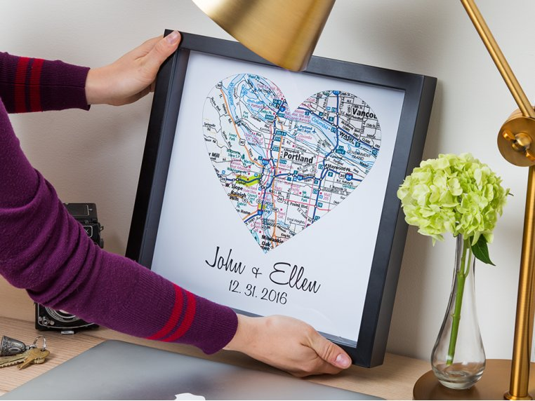 Personalized Map Heart Shadow Box by Define Design 11 - 3
