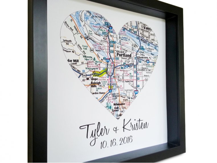 Personalized Map Heart Shadow Box by Define Design 11 - 5