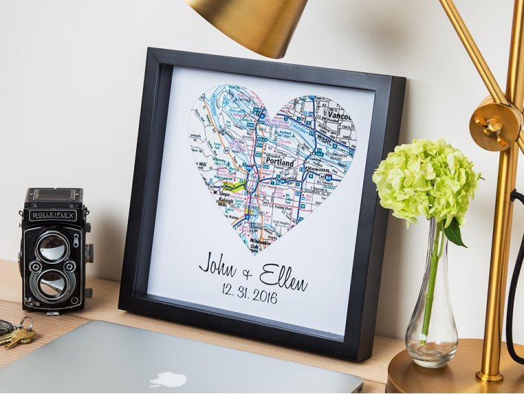 Personalized Map Heart Shadow Box by Define Design 11 - 1