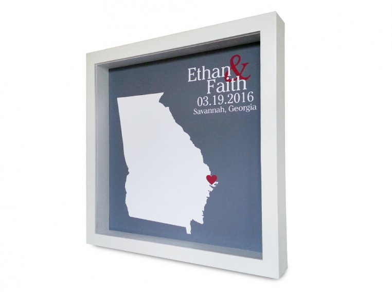 Custom State Outline Shadow Box by Define Design 11 - 4